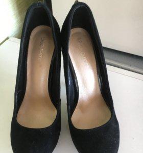 Туфли замшевые( натур)