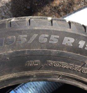 Зимняя нешипованая резина Michelin Alpin A3 б/у
