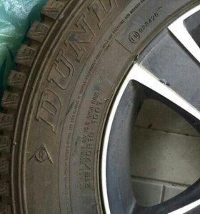 Комплект колес. Резина DUNLOP зима 215/70 R16 100T
