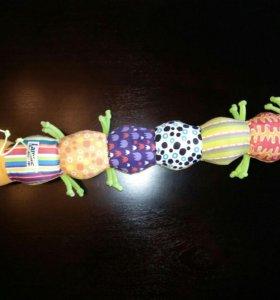 Игрушка погремушка Гусеница змейка lamaze