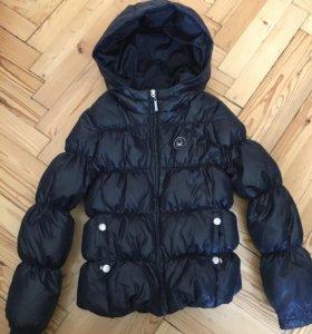 Тёплая стёганная курточка на девочку