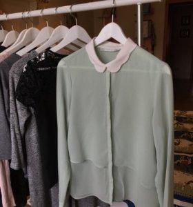Мятная рубашка Zara