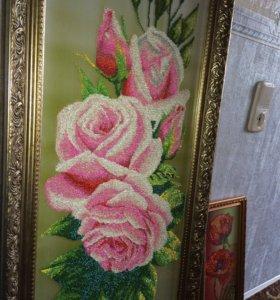Картина бисером, ручная вышивка