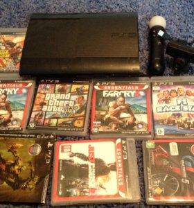 продам PS3 с играми с жостиками