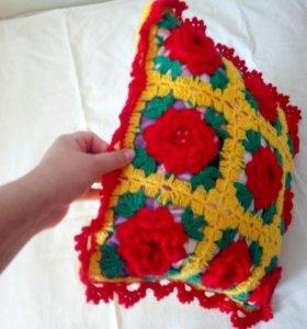 НОВЫЙ декоративный чехол на подушку ручной работы