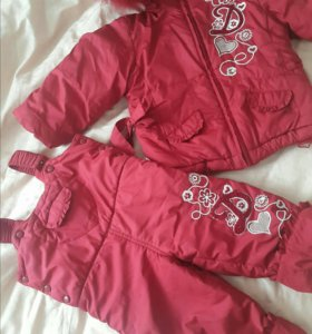 Зимний костюм.куртка +полукомбенизон.