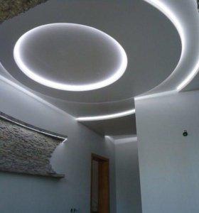 Глянцевый порящий потолок