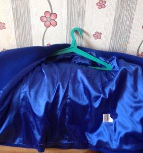 Пальто кашемир,синего цвета