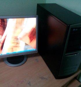 "Домашний компьютер 2 ядра + монитор Samsung 17"""
