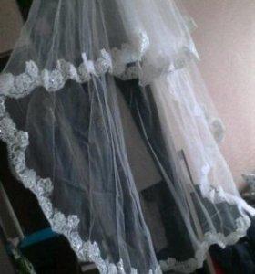 Свадебная фата и корона