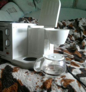 Мини духовка с кофеваркой