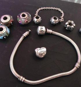 Pandora браслет и шармы оригинал