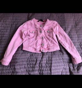 Джинсовая курточка Tchibo на 110/116