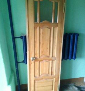 Дверь массив сосна. 60ка.