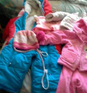 Зимние вещи на девочку