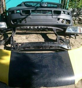 Бампер,капот,решётка, фары VW T5
