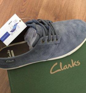 Замшевые кеды Clarks