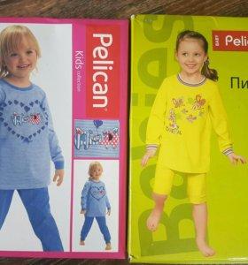 Пижама новая для девочки на рост 86