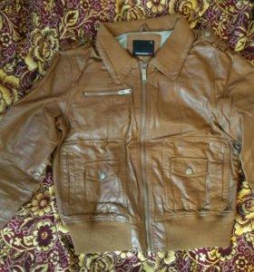 Куртка под кожу XL