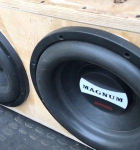 Сабвуфер Magnum м12 х2 и моноблок mac audio