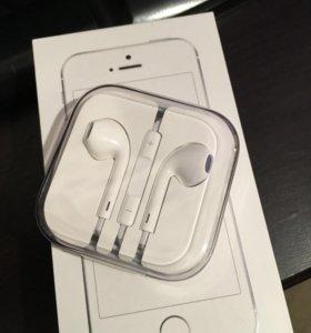 Новые, оригинал наушники от iPhone