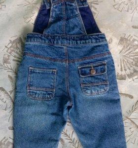 Комбинезон джинсовый 74