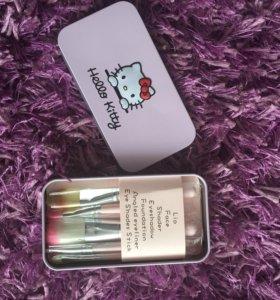 Кисти для макияжа Hello Kitty набор 7 шт