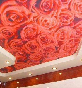 🌹Натяжные потолки 3D двухуровневые