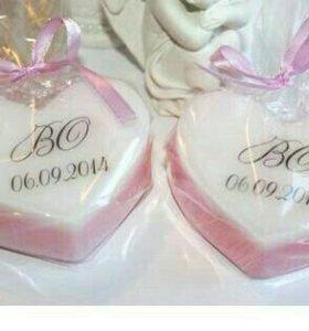 Свадебное мыло ручной работы