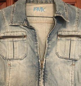 Куртка джинсовая с замочками