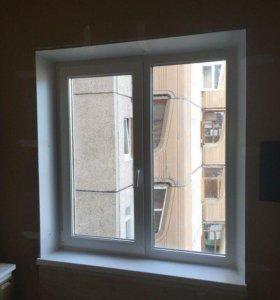 Окно двухстворчатое в панельный дом