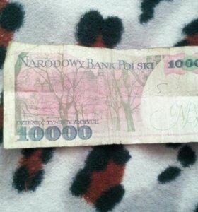 Польская купюра 10000 златых