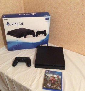 Новая PlayStation 4 Slim на 1 TB +игра