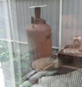 буржуйка на газе и уголь дрова