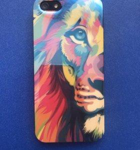 Чехол на iPhone 5/5s/5se, лев, недорого, силикон