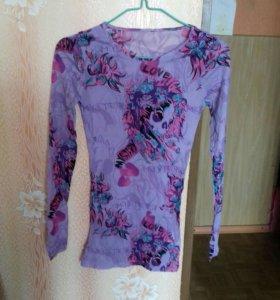 Блуза удлиненная.