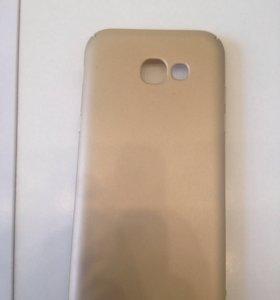 Чехол для Samsung A5 2017 (пластик) золотой