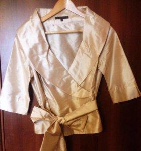 Золотая шелковая блуза Coast S/M