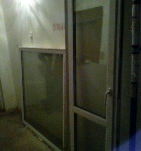 Пластиковое окно и дверь