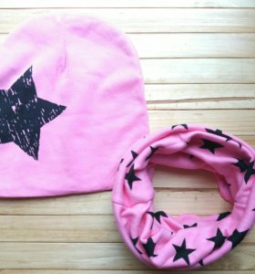Шапочка+шарф снуд(комплект)