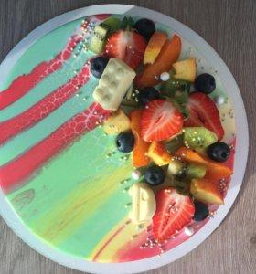 Торт муссовый с ягодами