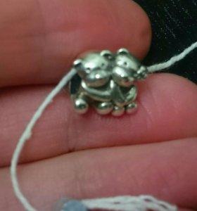 Шарм мишки серебро