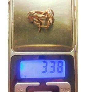 Серьги золото 585 пробы