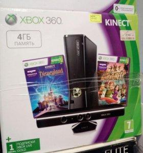 Xbox 360 4 гб,+ кинект