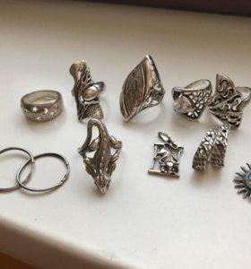 Набор серебренных  украшений