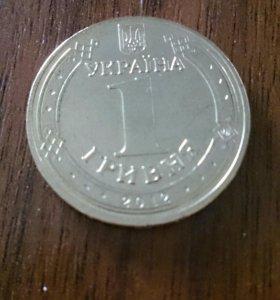 1 гривна, посв. Евро 2012