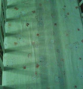 Кроватка-маятник с матрасиком