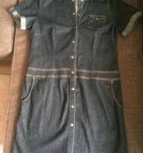 Джинсовое платье р.44