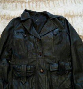 Куртка - пиджак кожаная, 46 размер