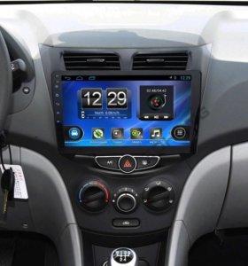 Магнитола Hyundai Solaris на Android